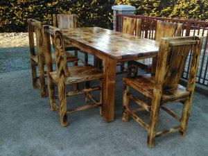 Vrtni namjestaj, drveni stolovi i klupe drvene stolice