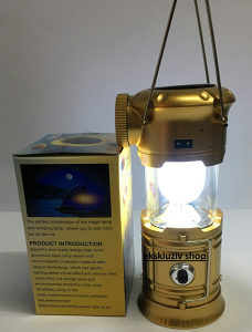 Solarna led lampa fenjer za bastu vrt Gold