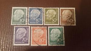 Markice serija Deutsche Bundespost 1956/57 god