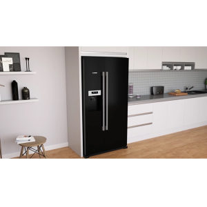 BOSCH Side by Side crni frižider KAD90VB20
