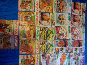 Prodajem stare casopise o kulinarstvu60kom sve za 20km