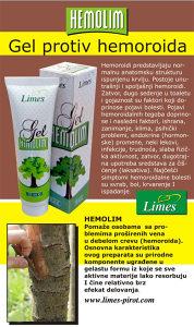 Limes krema protiv hemoroida (hemolim)