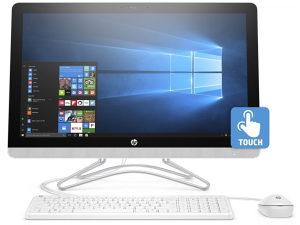 """HP 2MP88EA 24-E006NY 24"""" AIO Touch i3-7100 256GB SSD"""