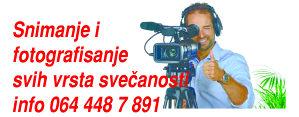 Usluge snimanja i fotografisanja svih vrsta svecanosti