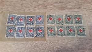 Kraljevina YU Porto markice 50 para plava i zelena 1933