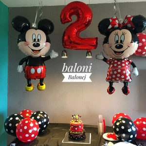 Balon - Baloni - Miki Mini - Mickey Minnie 114cm