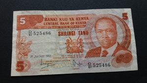 Kenija 5 šilinga 1982