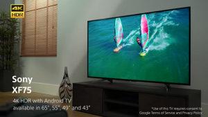 """Sony ANDROID 4K 43"""" UltraHD TV 43XF7596 Smart XF7596"""