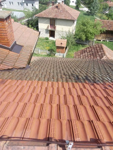 Pranje krovova i fasada krova fasade ploca bazena