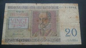 Belgija 20 franaka 1950