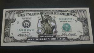 USA 1 milion dolara SUVENIR