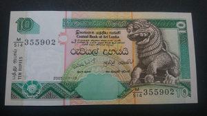 Šri Lanka 10 rupija 2005