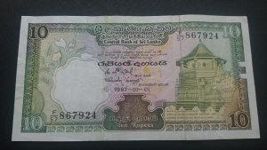 Šri Lanka 10 rupija 1987