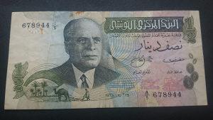 Tunis 1/2 dinara 1973