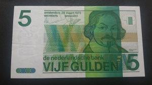 holandija 5 guldena 1973