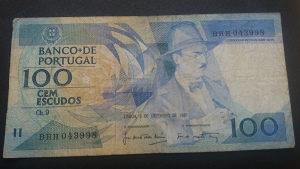 Portugal 100 escudosa 1987