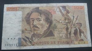 francuska 100 franaka 1986