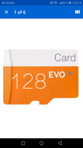 EVO memory card 128 GB