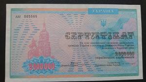 ukraina 2 000 000 karbovantsiv 1992 UNC