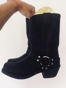 Durango zenske cizme crne prava koza