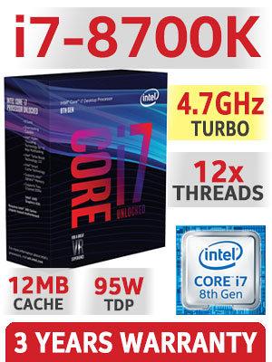 INTEL i7-8700K, Z370-A, 32GB DDR4, 1060, 512GB M.2