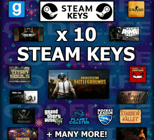 10 Random Steam Cd key TOP