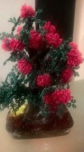 Cvijece rucni rad PERLICE