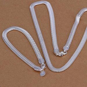 Ogrlica  i narukvica srebro 925