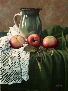 Umjetnička slika: mrtva priroda, ulje na platnu