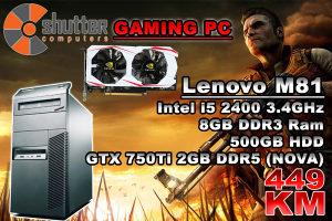 AKCIJA GAMING PC Lenovo M81 449KM