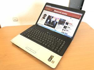 "Laptop HP 15.6"" dual-core 2.0 GHz /250GB/4GB/NVIDIA"
