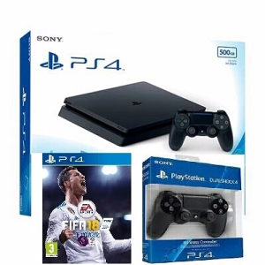 Playstation 4 Slim Gran Turismo  Fifa 18 2 džojstika