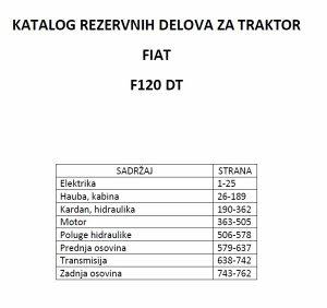 Fiat traktor F120  DT - katalog dijelova