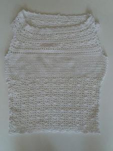 Heklana bijela bluza