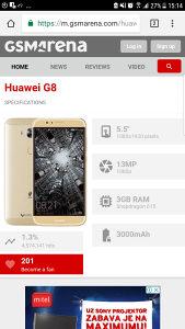 Huawei g8 razbijen