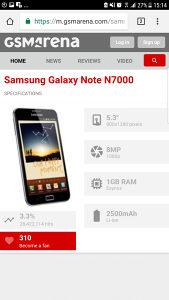Samsung note n7000 razbijen