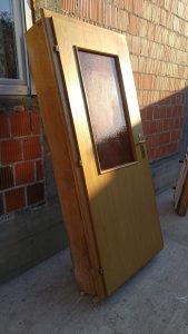 Drvena vrata 90x202, široki štok (27 cm), hrastova