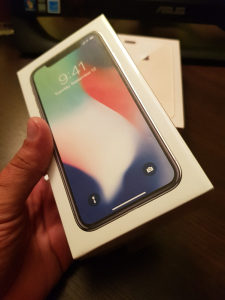 IPhone X 64GB silver NOVOO!!