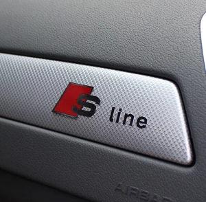S line AUDI znak - naljepnica / 5 x S line /