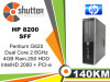 HP 8200 - G620 2.6 ghz 4gb ram 250gb hdd