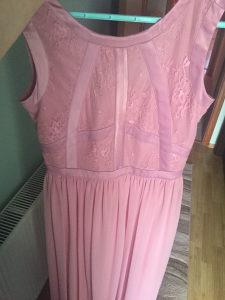 Duga roza svečana haljina