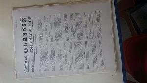 "STARI DOKUMENAT""SLUŽBENI GLASNIK""1966.GOD."