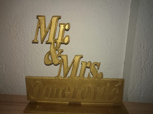 Ukrasi i dekoracije za svadbe Mr Mrs po želji