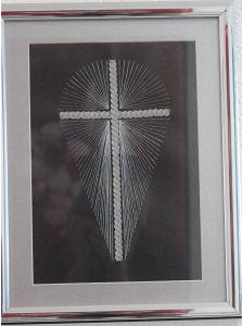 Srebrovez 'KRIŽ', 30 X 20 cm. uramljeno, Š.S.