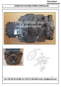 Komatsu PC30 pumpa hidraulike