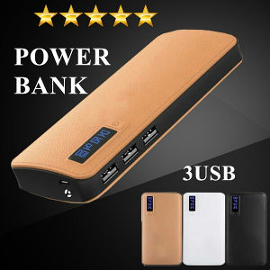 Power Bank 12.000mAh(Smeđi)3USB Izlaza/Led Display