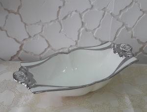 Keramička zdjela sa srebrenom obradom