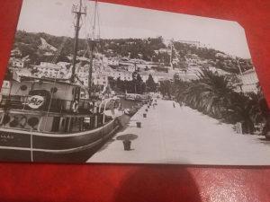 Crno bijela razglednica Hvar