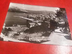 Crno bijela razglednica Korcula