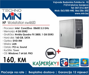 HP Workstation xw4600 3.3/4/160/DVD-RW